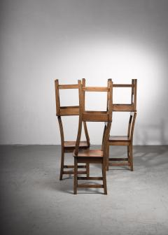 Set of six oak Arts Crafts dining chairs - 2128474