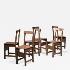 Set of six oak Arts Crafts dining chairs - 2131686