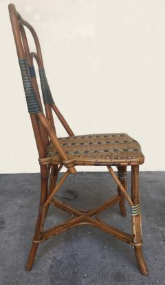 Set of six rattan winter garden chairs M Murard Lyon France circa 1930 - 1041325