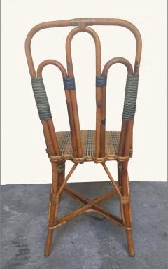 Set of six rattan winter garden chairs M Murard Lyon France circa 1930 - 1041326