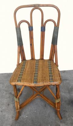 Set of six rattan winter garden chairs M Murard Lyon France circa 1930 - 1041327