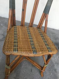 Set of six rattan winter garden chairs M Murard Lyon France circa 1930 - 1041328