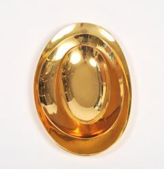 Set of three handmade cast brass trays - 1240570