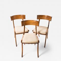 Set of three sabre leg Klismos form side chairs - 1932873