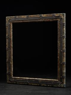 Set of two decorative wooden frames and an old mirror  - 1926931