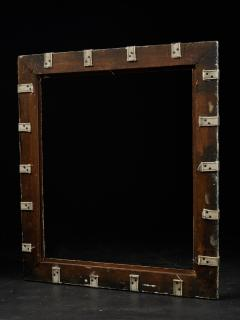 Set of two decorative wooden frames and an old mirror  - 1926933