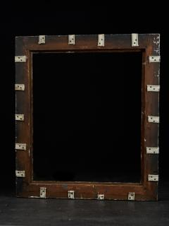 Set of two decorative wooden frames and an old mirror  - 1926946