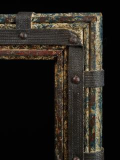 Set of two decorative wooden frames and an old mirror  - 1926949