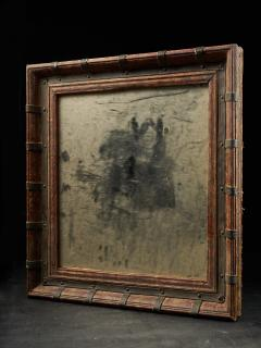 Set of two decorative wooden frames and an old mirror  - 1926953