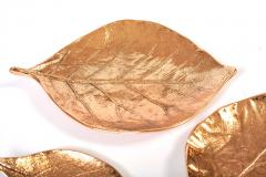 Set ot three bronze leaf bowls - 1240584