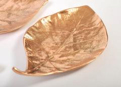 Set ot three bronze leaf bowls - 1240586