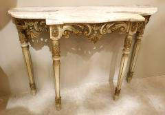 Set with Console Marble Top Giltwood Table Mirror Louis XV Style France 1920s - 1573093
