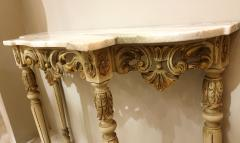 Set with Console Marble Top Giltwood Table Mirror Louis XV Style France 1920s - 1573097