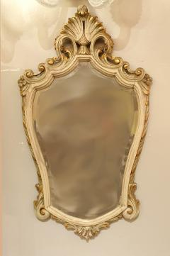 Set with Console Marble Top Giltwood Table Mirror Louis XV Style France 1920s - 1573099