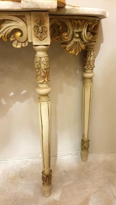 Set with Console Marble Top Giltwood Table Mirror Louis XV Style France 1920s - 1573100