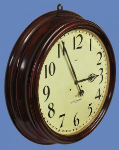 Seth Thomas c 1900 Large American Mahogany Gallery Clock - 1184101