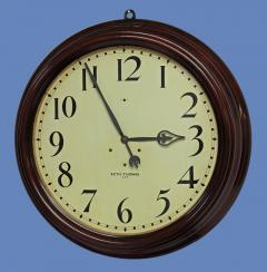Seth Thomas c 1900 Large American Mahogany Gallery Clock - 1184115