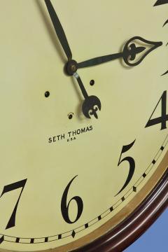 Seth Thomas c 1900 Large American Mahogany Gallery Clock - 1184117