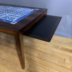 Severin Hansen Rosewood and Tile Coffee Table Denmark 1960s - 1325050