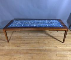 Severin Hansen Rosewood and Tile Coffee Table Denmark 1960s - 1325051