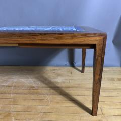 Severin Hansen Rosewood and Tile Coffee Table Denmark 1960s - 1325054
