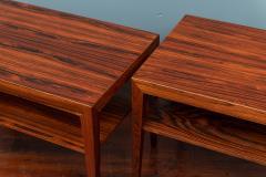 Severin Hansen Scandinavian Modern Rosewood Side Tables by Severin Hansen - 988941