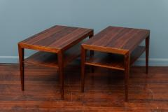 Severin Hansen Scandinavian Modern Rosewood Side Tables by Severin Hansen - 988943