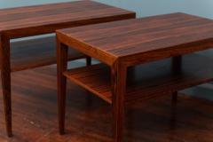 Severin Hansen Scandinavian Modern Rosewood Side Tables by Severin Hansen - 988947