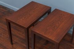 Severin Hansen Severin Hansen Rosewood Side Tables for Haslev - 1880042