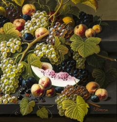 Severin Roesen Two Tiered Still Life of Fruit - 1181201