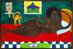 Seymour Etienne Bottex Sensuous Reclining Nude with Interested Cat - 1606593