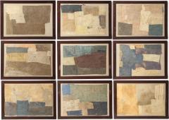 Sharon Simonaire Set of Nine Framed Collage Artworks - 1953098