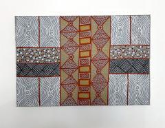 Sheila Puruntatameri An Australian Aboriginal Painting of Body Paint Design - 949392