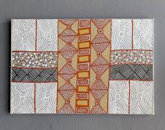 Sheila Puruntatameri An Australian Aboriginal Painting of Body Paint Design - 949393
