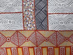 Sheila Puruntatameri An Australian Aboriginal Painting of Body Paint Design - 949395