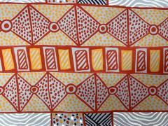 Sheila Puruntatameri An Australian Aboriginal Painting of Body Paint Design - 949398