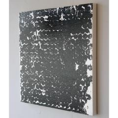 Sheila White Square 1 Black and White Painting on Canvas 2016 - 258303