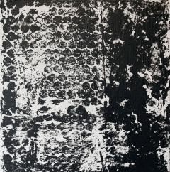 Sheila White Square 1 Black and White Painting on Canvas 2016 - 258310