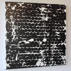 Sheila White Square 2 Black and White Painting on Canvas 2016 - 258331