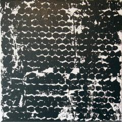 Sheila White Square 2 Black and White Painting on Canvas 2016 - 258345