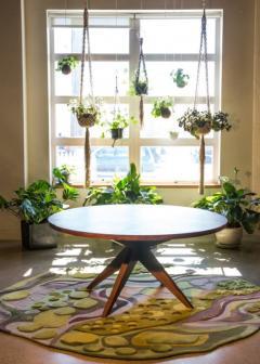 Sherwood Hamill ROUND BONFIRE DINING TABLE - 946957