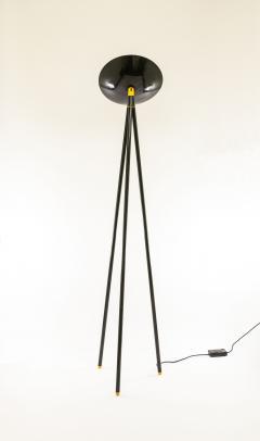 Shigeaki Asahara Black Palomar Floor Lamp by Shigeaki Asahara for Stilnovo 1980s - 1087650