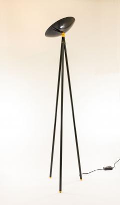 Shigeaki Asahara Black Palomar Floor Lamp by Shigeaki Asahara for Stilnovo 1980s - 1087651