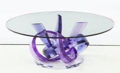 Shlomi Haziza Haziza Indigo Violet Acrylic Ribbon Coffeetable - 1473775