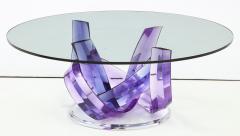 Shlomi Haziza Haziza Indigo Violet Acrylic Ribbon Coffeetable - 1473777
