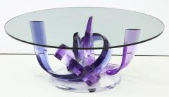 Shlomi Haziza Haziza Indigo Violet Acrylic Ribbon Coffeetable - 1473778