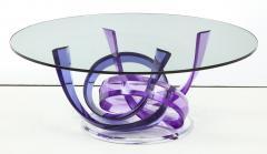 Shlomi Haziza Haziza Indigo Violet Acrylic Ribbon Coffeetable - 1473779