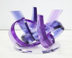 Shlomi Haziza Haziza Indigo Violet Acrylic Ribbon Coffeetable - 1473780
