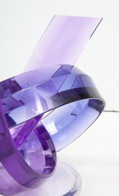 Shlomi Haziza Haziza Indigo Violet Acrylic Ribbon Coffeetable - 1473783