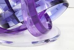 Shlomi Haziza Haziza Indigo Violet Acrylic Ribbon Coffeetable - 1473786